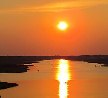 Sunset From The Oak Island Bridge by Cynthia48