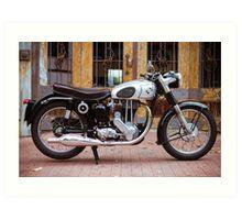 Norton 19S Vintage English Motorcycle Art Print