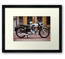 Norton 19S Vintage English Motorcycle Framed Print