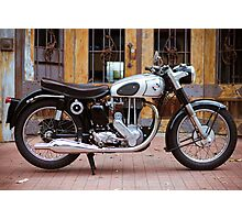 Norton 19S Vintage English Motorcycle Photographic Print