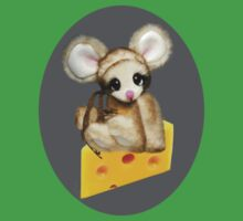 ✿♥‿♥✿LITTLE NIBBLES MOUSE ON CHEESE CHILDRENS TEE SHIRT✿♥‿♥✿ Kids Clothes