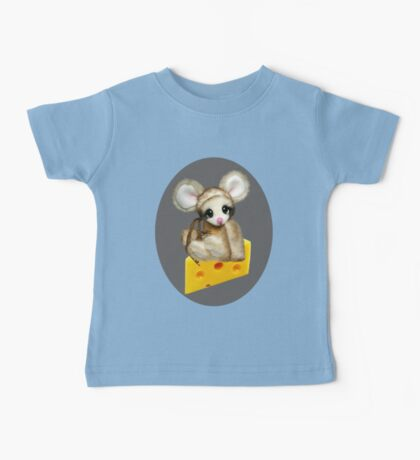 ✿♥‿♥✿LITTLE NIBBLES MOUSE ON CHEESE CHILDRENS TEE SHIRT✿♥‿♥✿ Baby Tee