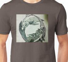 coy fish ying yang Unisex T-Shirt