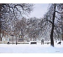 Southampton Watts Park in the Snow Photographic Print