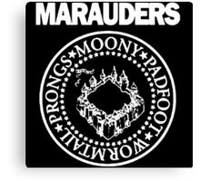 The Marauders Map Harry Potter Logo Parody Canvas Print