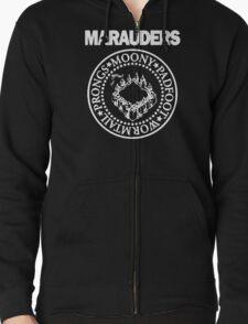 The Marauders Map Harry Potter Logo Parody Zipped Hoodie