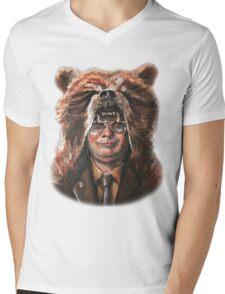 Bear Schrute Mens V-Neck T-Shirt