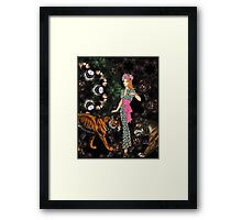 003 the scientist Framed Print