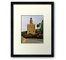 Golden Tower Framed Print