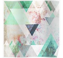 Graphic 3 turquoise Poster