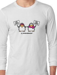I am cool, I am cold (Two penguins) Long Sleeve T-Shirt