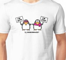 I am cool, I am cold (Two penguins) Unisex T-Shirt