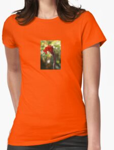 Red Canna Lily Womens Fitted T-Shirt