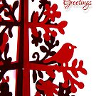 Red Seasons Greetings by Michelle Ricketts