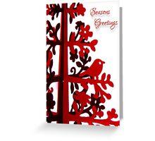Red Seasons Greetings Greeting Card