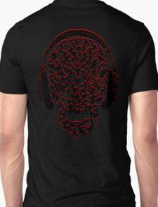 °ღ♫Cool Vintage Feel Skull Listening to Music Clothing & Stickers♪ღ° Unisex T-Shirt