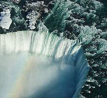 Flying Over Icy Niagara Falls by Georgia Mizuleva