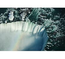 Flying Over Icy Niagara Falls Photographic Print
