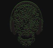 °ღ♫Cool Vintage Feel Skull Listening to Music Clothing & Stickers♪ღ° Baby Tee
