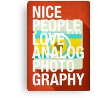 Nice People Love Analog Photography Canvas Print