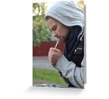 Young man Greeting Card
