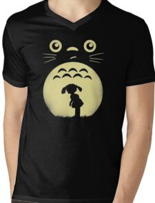 Totoro My Neighbor's Ghibli Funny Mens V-Neck T-Shirt