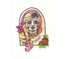 Miss Muerte Art Print