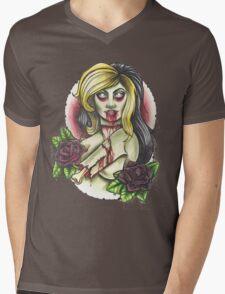Zombie Girl Mens V-Neck T-Shirt