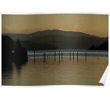 Coeur d'Alene lake at dusk (3) Poster