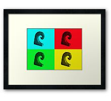 "Pop Art...""the Wave"" Framed Print"