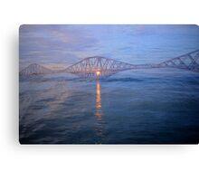 Forth Rail Bridge at Sunset #1 Canvas Print