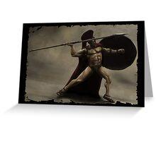 I Am Sparta Greeting Card