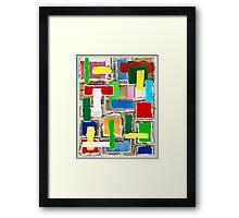 WASTE COLLAGE Framed Print
