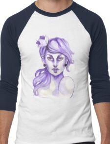 lilac Men's Baseball ¾ T-Shirt