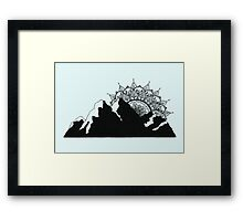 Mountain Mandala Framed Print