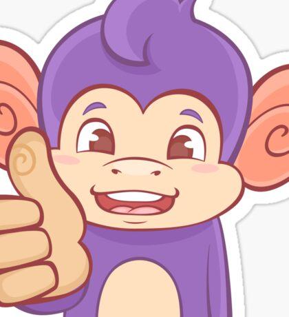 Thumbs Up Funky Monkey Sticker