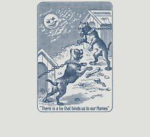 Squeezer (blue bulldog playing cards) Unisex T-Shirt