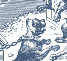 Squeezer (blue bulldog playing cards) Sticker