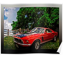 Mach 1 Ford Mustang Traveled from 1969 to the World of Tomorrow Poster