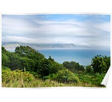 View From The Coastal Path Poster