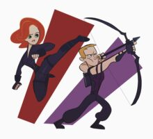 Black Widow & Hawkeye by StevRayBro