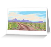 Road Toward Wind Mountain Greeting Card