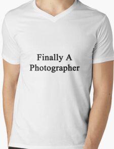 Finally A Photographer  Mens V-Neck T-Shirt