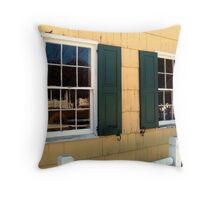 Historic Windows and a Reflection of That World Throw Pillow