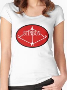 Stinson Aircraft Company Logo Women's Fitted Scoop T-Shirt