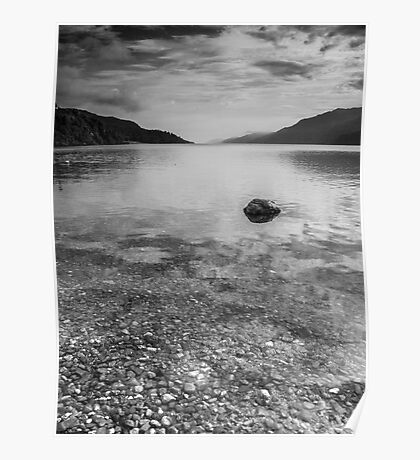 Floating Rock.  Poster