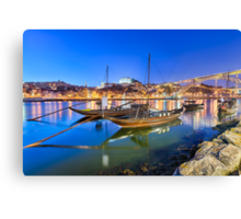 The boats of Porto Canvas Print