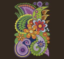 Retro Paisley Patterns and Decorative Flowers by walstraasart
