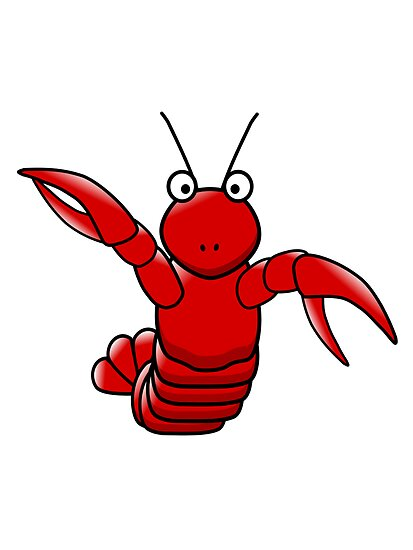 Cartoon Lobster By Kwg2200 Redbubble