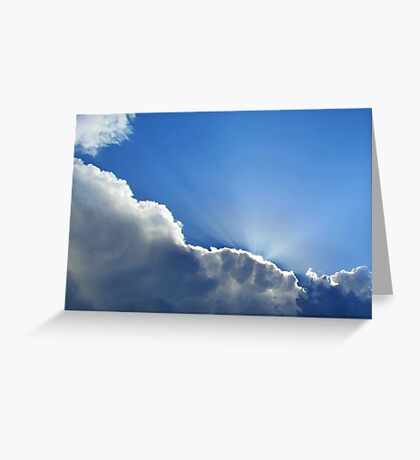 Light Shining From Heaven Greeting Card